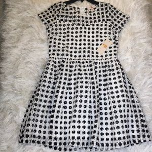 Black and white gb girls dress